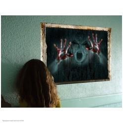 """Наклейки декор. Хэллоуин """"За стеной"""" кровавые ладони 60*45см"""