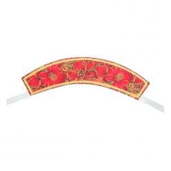 """Кокошник на лентах """"Алые цветы"""" красный"""
