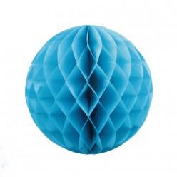 Шар бумажный сотовый 30см голубой