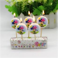 """Свечи-круги для торта """"Минни Маус"""" 5шт"""