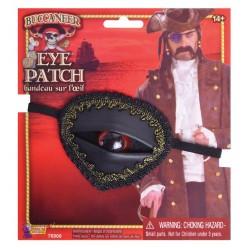 Повязка пирата на глаз с глазом (кожзам)