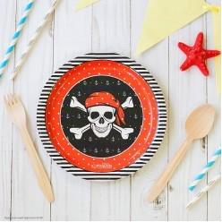 """Тарелки """"Пиратские"""" 18см 10шт (бумага)"""