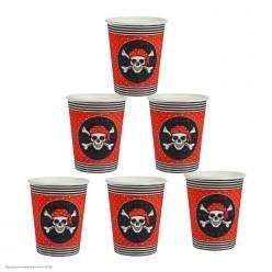 """Стаканы """"Пиратские"""" 250мл, 10шт (бумага)"""