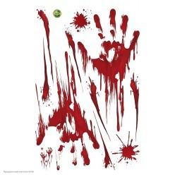 """Наклейки декоративные Хэллоуин """"Кровавые отпечатки"""" 45*30см"""