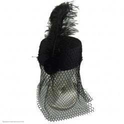 Шляпка с вуалью чёрная