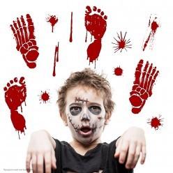 """Наклейки декоративные Хэллоуин """"Кровавые следы"""" 45*30см"""