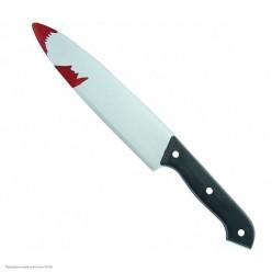 Нож кухонный в крови 30*4см (пластик)