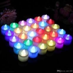 Свеча LED 4,3*3,6см (медленно меняет цвета)