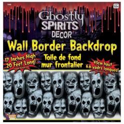 """Декорация на стену для Хэллоуина """"Крик"""" 43*600см (плёнка)"""