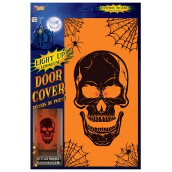 "Декорация на дверь для Хэллоуина ""Череп"" 76*152см (плёнка)"