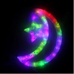 """Электрофигура LED """"Месяц, звёзды"""" 38*27см (пластик)"""