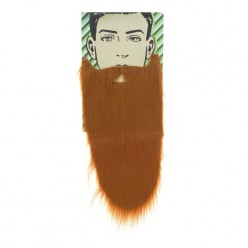 Борода Рыжая прямая 50см (на резинке)