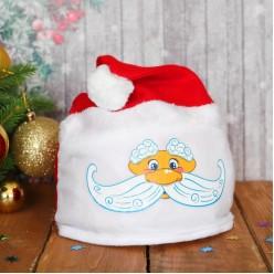 Шапка Дед Мороз в колпаке (текстиль)