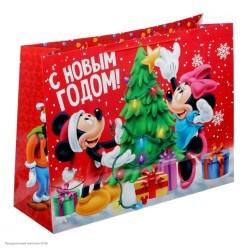 """Пакет подарочный XL 61*46*20см Микки и Минни """"С Новым Годом"""""""
