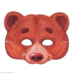 Маска Медведь (картон) 24,5*19,8см