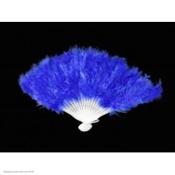Веер перьевой (синий) 40*25см