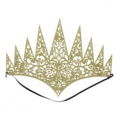 Корона королевская резная золотая (мягкая)