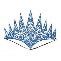 Корона королевская резная синяя (мягкая)