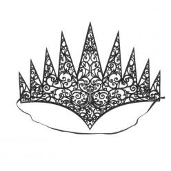 Корона королевская резная чёрная (мягкая)