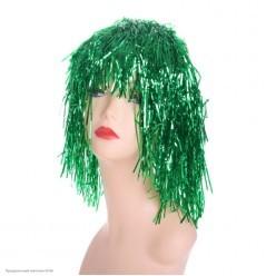 """Парик """"Дождик"""" 35см зелёный"""