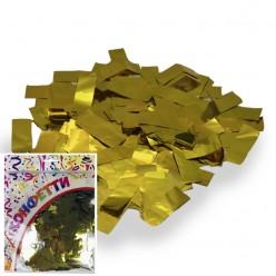 Конфетти фольга Прямоугольники золото 100гр, 2*5см