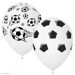 "Шар ""Футбол"" чёрно-белый 5ст/рисунок 12""/30см"