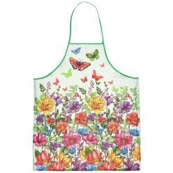 """Фартук """"Луговые цветы"""" 60*70см, хлопок, рогожка"""