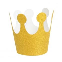 Корона золотая на резинке (бумага) 9,2*7,5см