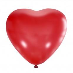 """Шар Сердце без рисунка RED 15""""/38см"""