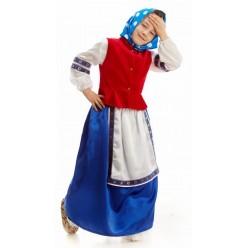 """Костюм детский """"Бабка в платке"""" 115-125 см"""