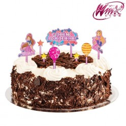 """Набор для украшения торта """"Винкс. С Днём Рождения"""""""