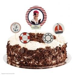 """Набор для украшения торта с фоторамкой """"Морской"""""""