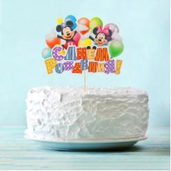 """Набор для украшения торта """"Микки Маус"""" (топпер, свечи 12шт)"""