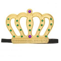Корона королевская со стразами на резинке (мягкая) 22*15см