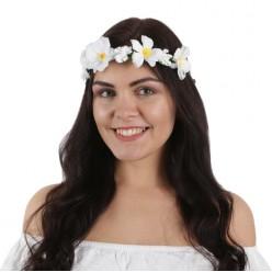 """Венок на голову цветочный """"Белые цветы"""""""