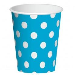 "Стаканы ""Горошек голубой"" 250мл 6шт, бумага"
