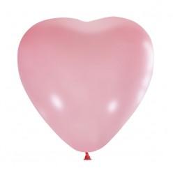 """Шар Сердце без рисунка PINK 15""""/38см"""