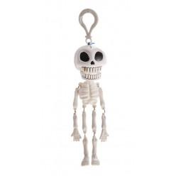 Подвеска Скелет клацающая челюсть (белый) 14 см