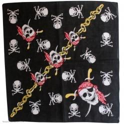 Бандана пирата (косынка) 55*55см, череп в красной бандане