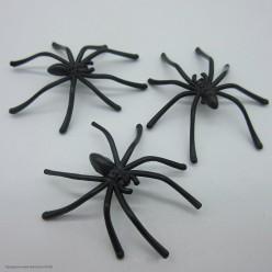 Паук тонкие лапки 4,5*5см, чёрный. Набор 10 штук (пластик)