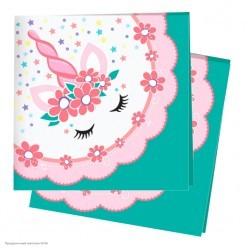 """Салфетки """"Единорог"""" Pink&Tiffany 24*24см, 12шт"""