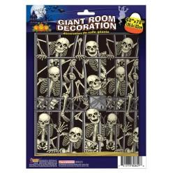 """Декорация на стену на Хэллоуин """"Вторжение скелетов"""" 105*180"""