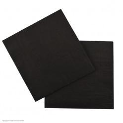 Салфетки чёрные 33*33см, 12шт