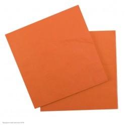 Салфетки оранжевые 33*33см, 12шт