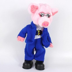 Свин в очках СГ (танцует, поёт 6 песен) 36*21*14см