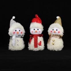 Снеговик в мохнатой шубке 21*10*9см (пенопласт)