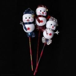 Снеговик на палке (пенопласт) 45*13см