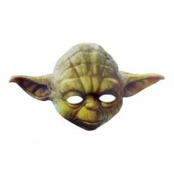 """Маска Йода """"Звёздные войны"""" (картон) 15*25,3см"""