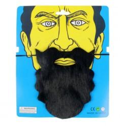 Борода Чёрная фигурная см (на резинке)