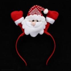 Ободок НГ светящийся Дед Мороз 22*14см